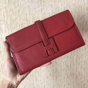 Authentic Hermes Jige Elan Clutch with Insert